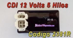 cdi 12 volts 5 hilos