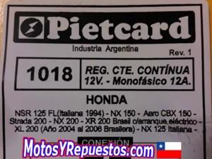 Comprar en Chile rectificador Honda XL 200 XR 200