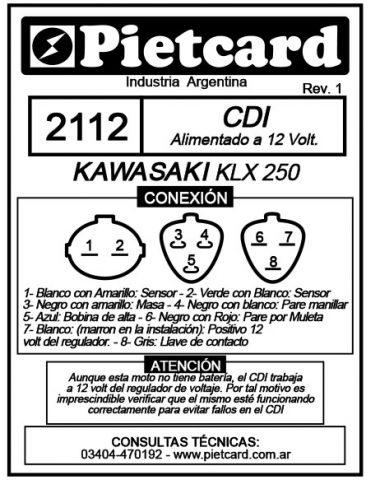 Para cotizar o comprar cdi de tu moto kawasaki en chile